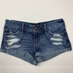 Hollister short short low rise jean shorts size 5